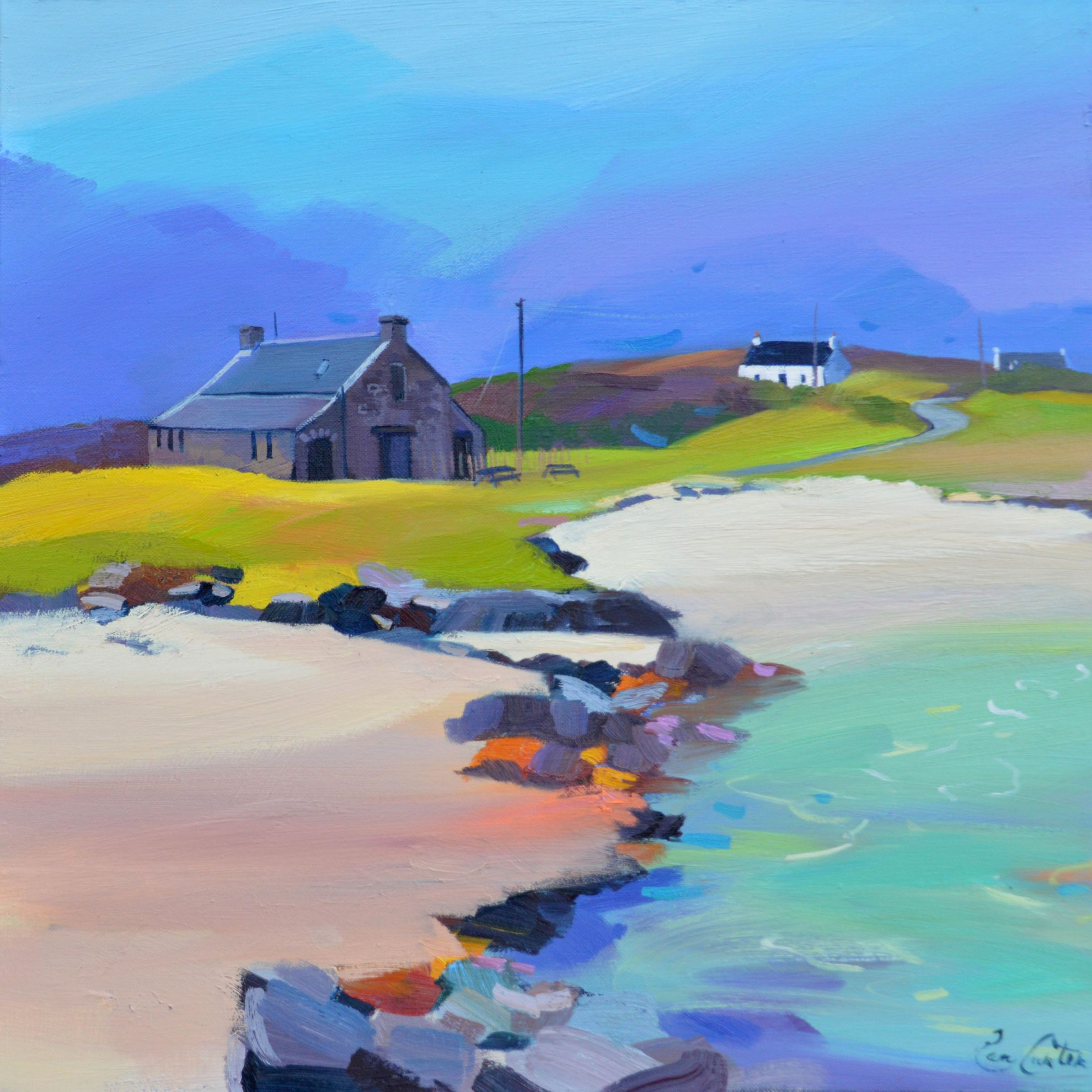 Boathouse Gigha by Pam Carter