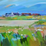 Painting of Farms on Gigha by Pam Carter
