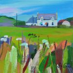 Gigha Farm Barn Line painting by Pam Carter