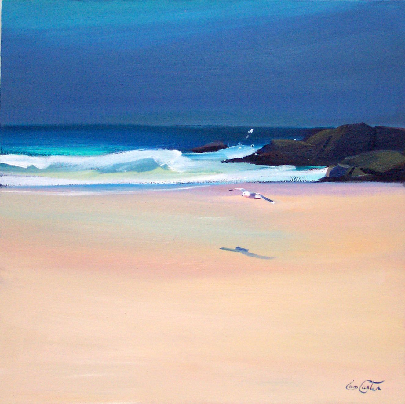 Low Flight Coll Island Pam Carter Landscape