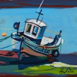 Old Boat painting by Pam Carter