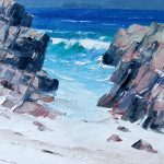 Staffa through the rocks. Iona by Erni Upton