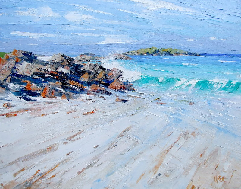 Breaking Waves, Traigh na Criche, Western Iona by Erni Upton
