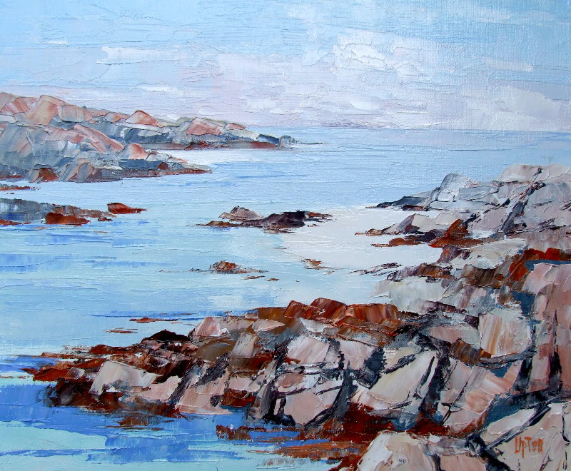 Oil Painting of Poll Dunain, NW Iona