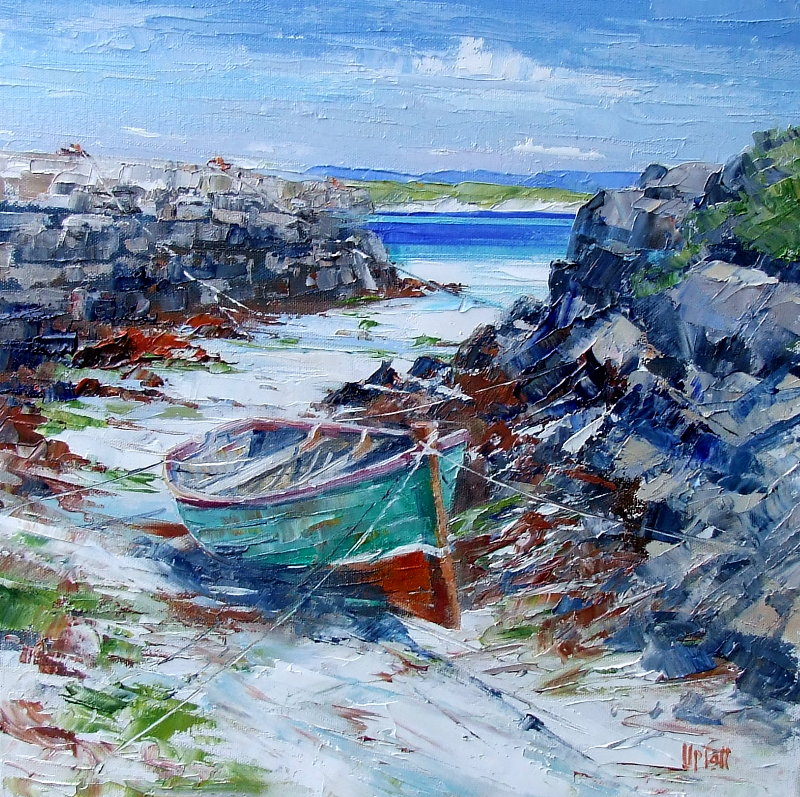 Oil Painting of Low Tide, Eoligarry, N Barra