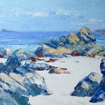 A Painting of Pulpit Rock, Staffa, & Lunga Distant, From The Beach At N Iona