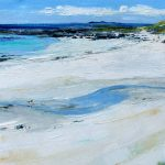 A Painting of A River Burn Meeting The Sea at Western Iona