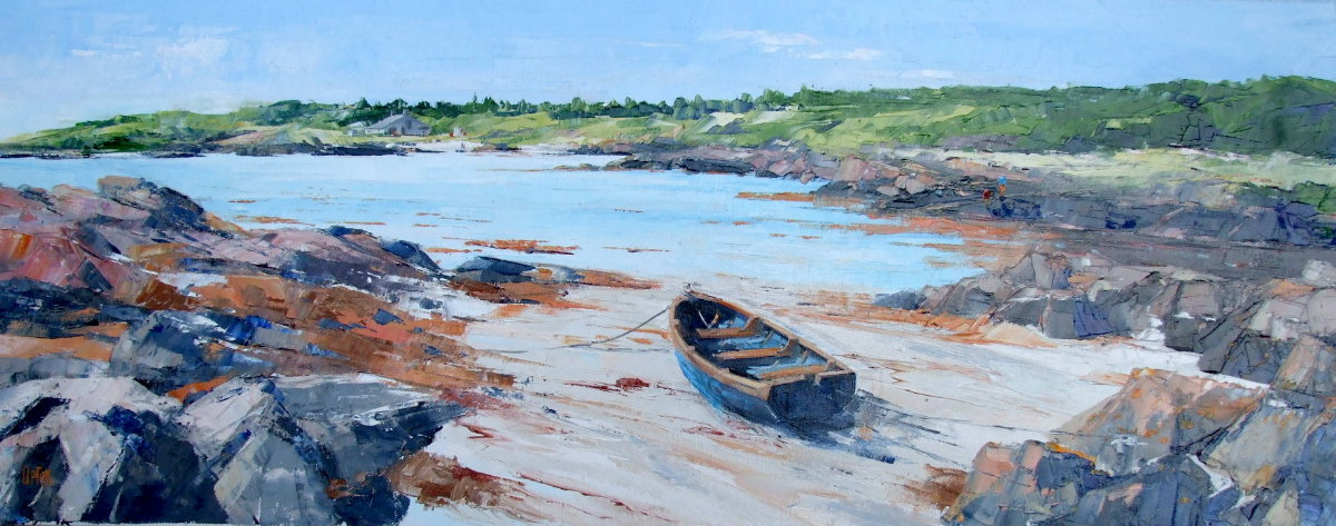 A Painting of A Row Boat at North Ardminish Bay, Gigha