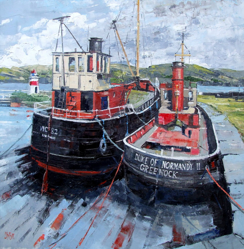 A Painting of Two Boats at Crinan