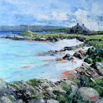 A Painting of a Sunny Afternoon at Boathouse Bay, Ardminish on the Isle of Gigha