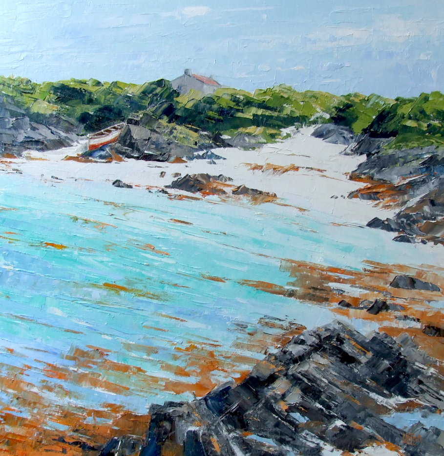 A Painting of the Beach, Traigh, Rudha Chinn Mhoir at Ardminish on Gigha